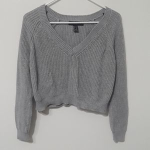Knit crop sweater